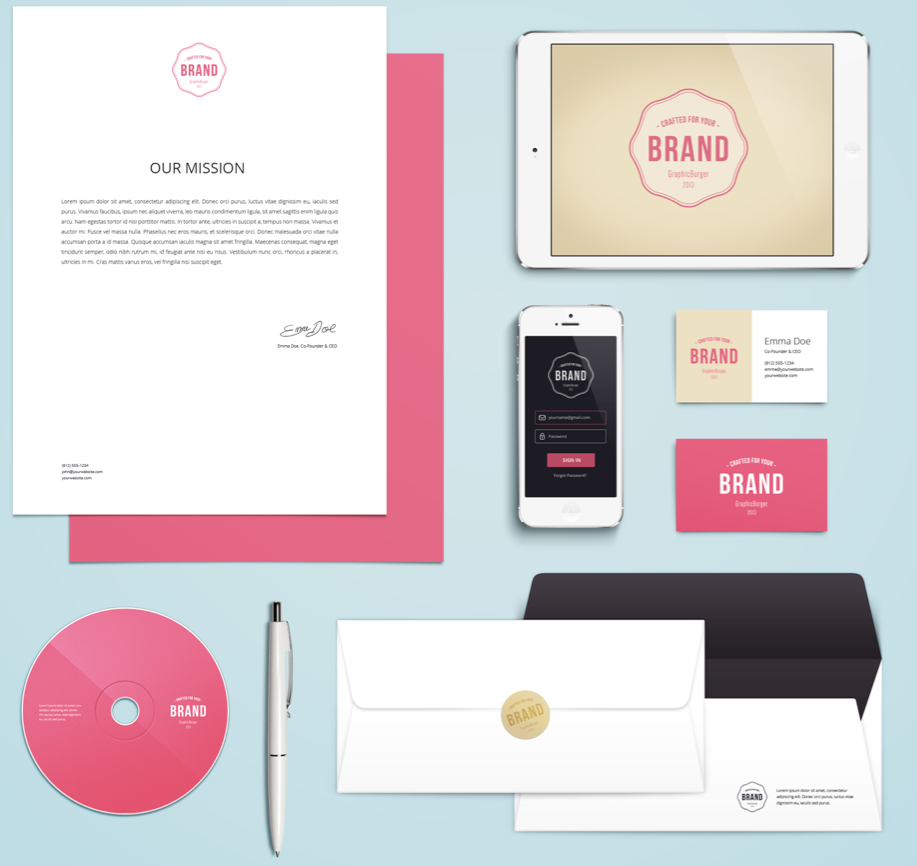 niu designer branding and marketing materials